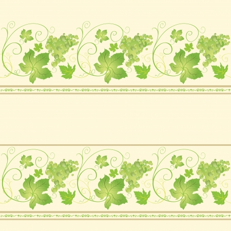 decorative seamless pattern with grape Vector
