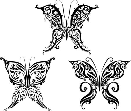 Decorative illustration of butterflies Stock Vector - 14225391