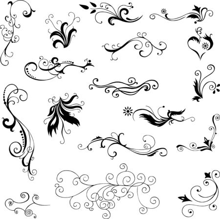 pattern decorative floral elements for design Stock Vector - 14327957