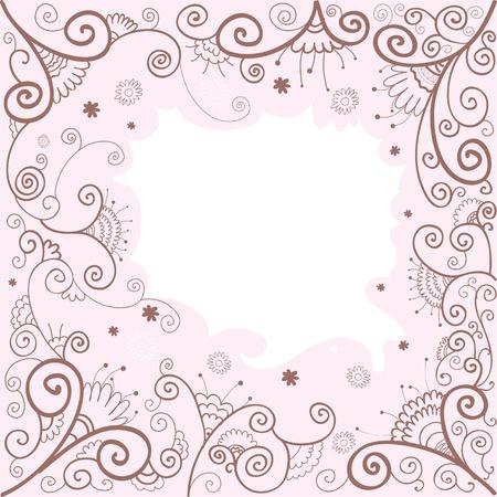 Vector handdrown  illustration of floral background Stock Vector - 14327944