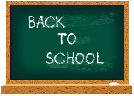 Vector illustration of school blackboard with text Back to school Vector