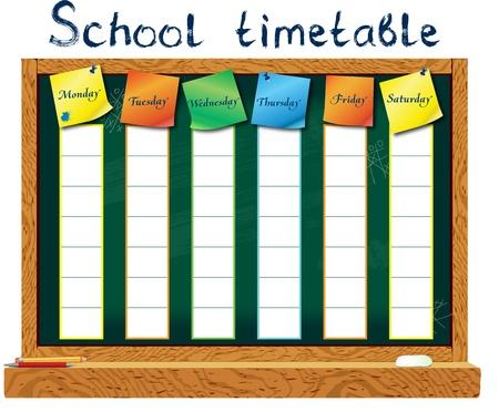 calendario escolar: Horario Verti?al para el estudiante en forma de formación a bordo