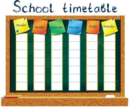 lessons: Vertiсal schedule for the student in the form of board training         Illustration