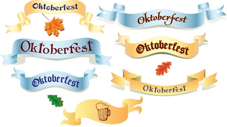 Set of ribbons for your design Vector
