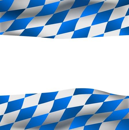뮌헨: 내부 텍스트 바바리아 플래그와 공간 배경 일러스트