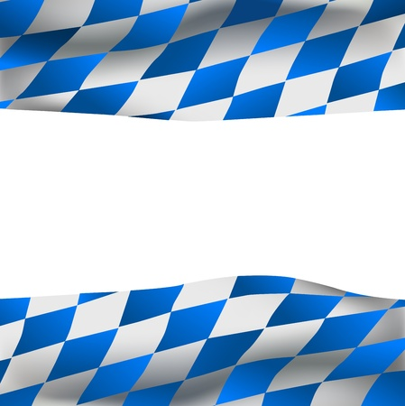 Background with bavarian flag and space for your text inside Illustration