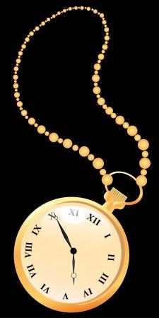 pocket watch: Pocket vintage watches Illustration