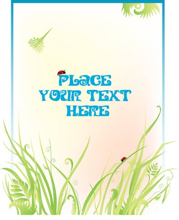 Background with grass Stock Vector - 14733514