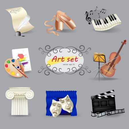 Set of art and entertainment symbols Imagens - 15065120
