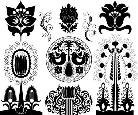 Set of decorative patterns - elements for your design Vector