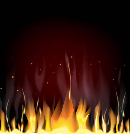 Fiery background with free space for your text Illustration