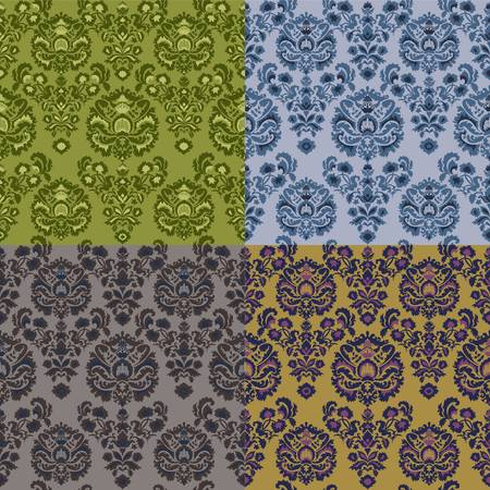 Set of luxury vintage seamless patterns Stock Vector - 16851426