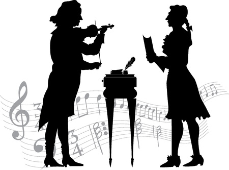 Classical musicians Vector