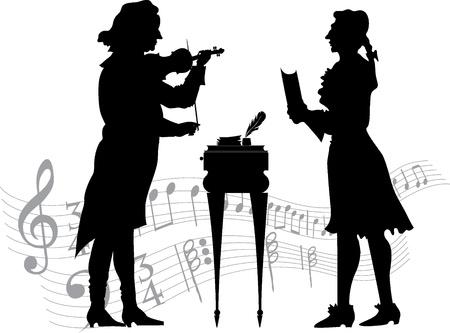 Classical musicians Stock Vector - 16879297