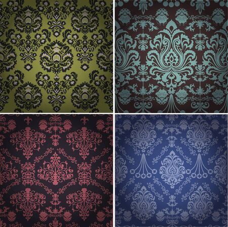 Set of luxury vintage seamless patterns Stock Vector - 16952377