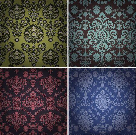 Set of luxury vintage seamless patterns Stock Vector - 16952377