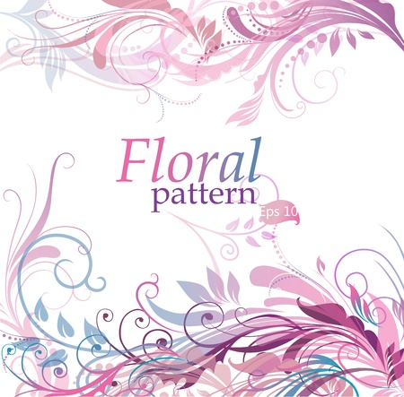 Floral pattern background in gentle coloring Vector