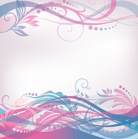 Floral pattern background in gentle coloring Stock Vector - 17600029