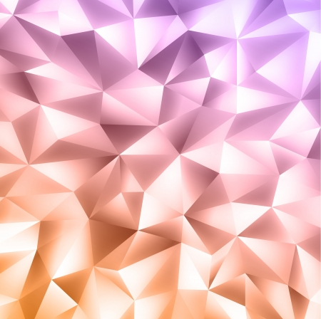 diamonds pattern: Abstract crystal colorful background in gentle coloring  with blur Illustration