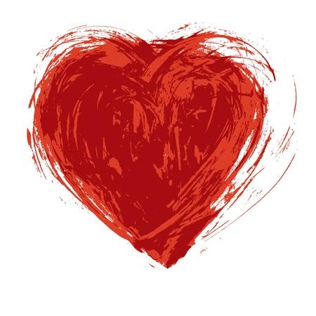 Hand drawn grunge heart Vector