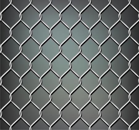 metal grid: Seamless illustration of chrome metal grid