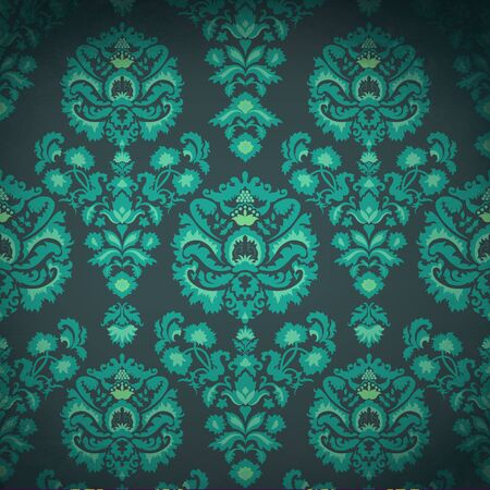 Luxury vintage pattern in emerald coloring photo