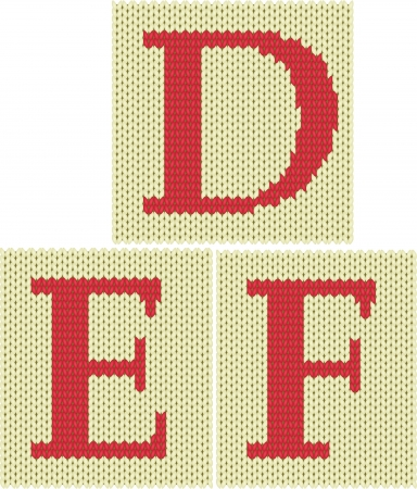 Set of knitted silhouette figures letters Stock Vector - 18156904