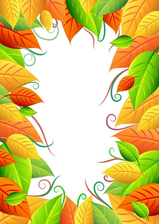 Background with autumn leaves and free space for your text Stock Vector - 18737769