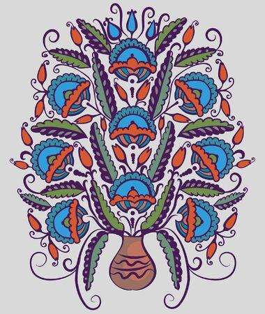 Folk pattern Stock Vector - 19121590