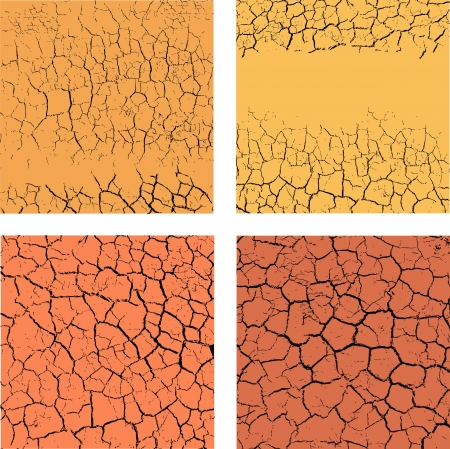 Set of backgrounds with cracks Vector