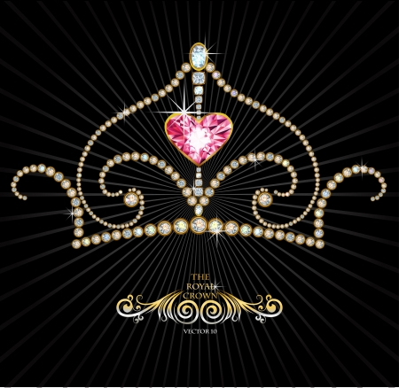 Royal crown made with shiny diamonds Vector