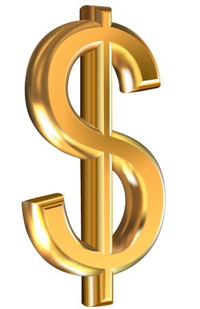 Gouden dollarteken Stock Illustratie