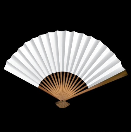 Dekorative geöffnet blank Fan Standard-Bild - 21970816