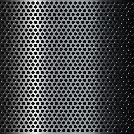 Perforated brushed metal grid background  Vector