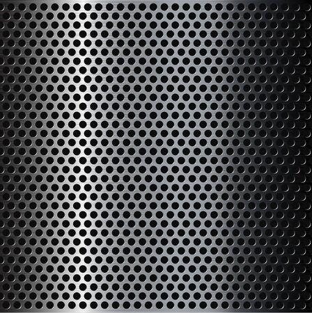 metal grid: Perforated brushed metal grid background