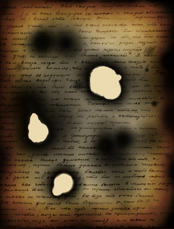 burnt paper: Burned letter background