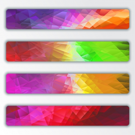 Set of abstract cilorful banners Vector