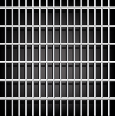 Prison grid seamless composition isolated on black Vector