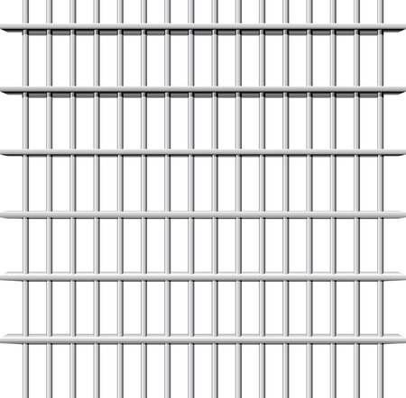 galvanized: Prison grid seamless composition isolated on white