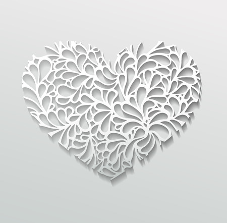 illustration of paper heart Vector