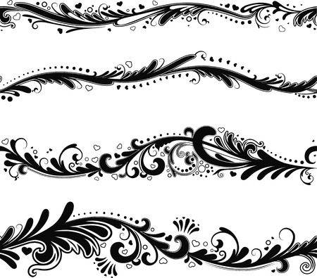 Set of seamless horizontal patterns fort your design Vector