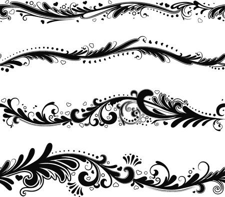 horizontal: Set of seamless horizontal patterns fort your design