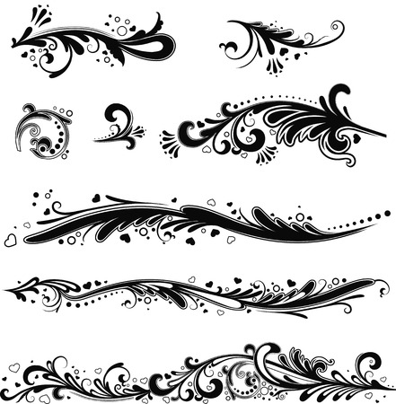 Set of horizontal patterns for your design Vector