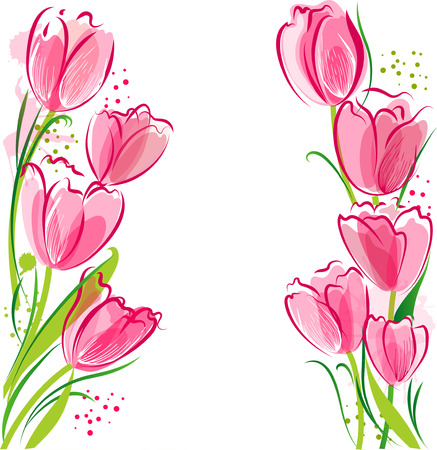 Tulips backgound Stock Vector - 26584173