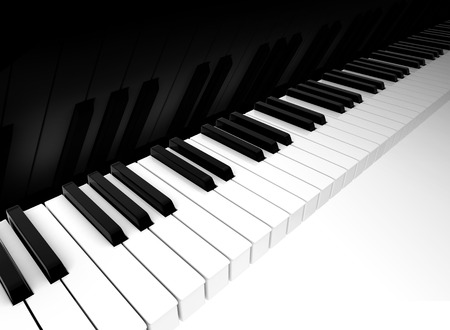 Background with the keys of piano