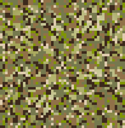 seamless digital multi terrain camouflage pattern Vector