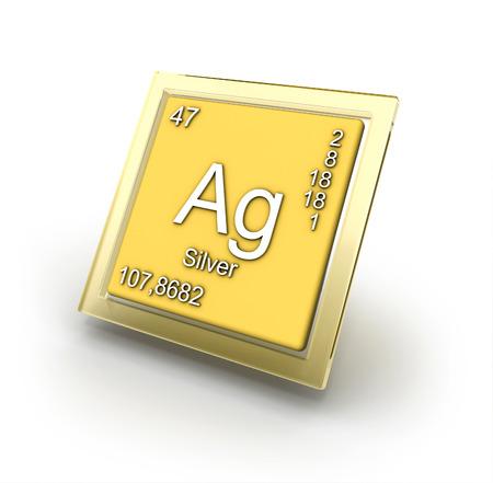 argentum: Argentum  chemical element sign Stock Photo