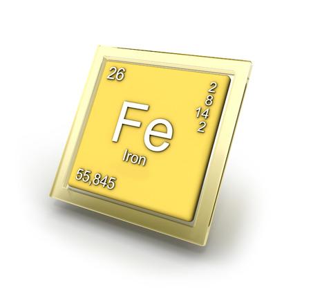 fe: Ferrum  chemical element sign