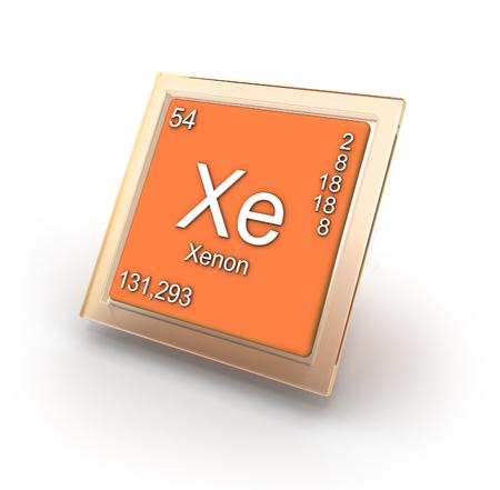 Xenon chemical element sign photo