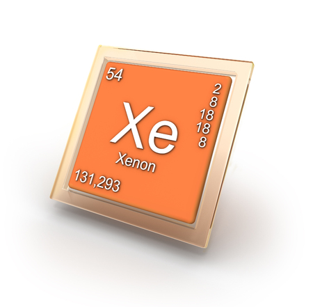 lustrous: Xenon chemical element sign